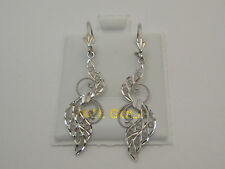 Backs Style 565 Made In Usa Solid 14k White Gold Earring Dangle Lever