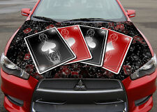 Four Aces Hood Full Color Graphics Wrap Decal Vinyl Sticker Fit any Car #039