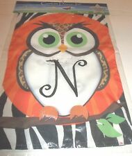 "Monogram N Owl Garden Flag Decorative Fall New 12"" x 18"""