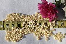 6/0  Czech Seed Beads Pearl Light Eggshell/28 grams