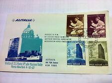 VATICANO- PAOLO VI ALLE NAZIONI UNITE 1965 - BUSTA ALITALIA