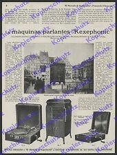 Grammophon Sprechmaschine Musik Rexephonic Zwickau Elektronik Leipzig Messe 1929