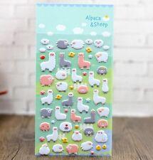 FD4496 Korea Design Alpaca Sheep Bubble Sticker for Diary Reward Moblie Phone✿
