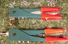 2 Way Rivet Gun Tool with 60 Rivets Quick Change Head riveter heavy duty new