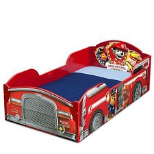 Nick Jr PAW Patrol Fireman Truck Toddler Bed Marshall Chase Rubble Zuma canine