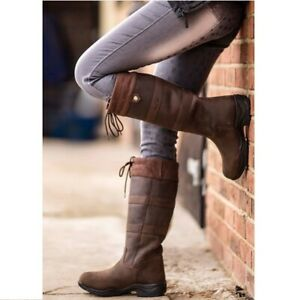 Unisex Mark Todd Waterproof Leather Country Boot - Brown WAS £145.00