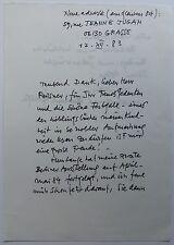 Ferdinand springer 1907-1998 grasse/Autograph lettre/17.12.1983 provence