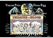 Theatre of Blood (2) - Vincent Price - A4 Laminated Mini Movie Poster