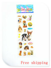 1 sheet 3D PVC pets dog wall stickers lot kids Crafts Puzzle Christmas gift A1