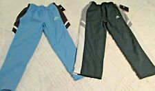 NIKE BOYS PANTS 4T LOT OF 2 PAIR NEW GREEN BLUE LINED ATHLETIC PANTS BOGO