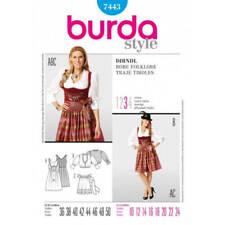 Burda Ladies Drindl Folklore Fancy Dress Costume Fabric Sewing Pattern 7443