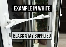 BLACK XL French Door Stay, Patio Door Hold Open, Restraint, Good for Dog Owners.