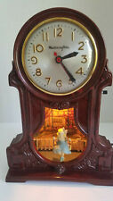 Vintage Bakelite Master Crafters Sessions Bakelite Girl on Swing Clock