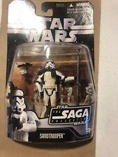 Star Wars Saga Collection Mos Eisley Sandtrooper action figure sealed black card