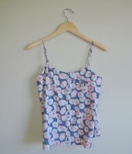 Womens Rachel Roy Tank Top Watercolor Pink & Blue Size Small