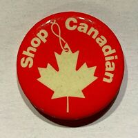 VINTAGE Shop Canadian Pinback Button
