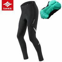Santic Men Cycling Pants Bike Bicycle Pants Breathable 4D Cushion Black-Dianshi