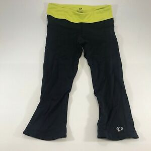 Pearl Izumi Women's Athletic Capri Pants Black Yellow Size Large