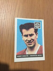 BOBBY CHARLTON  A&BC GUM CARD FOOTBALLERS 1958 WITHOUT PLANET
