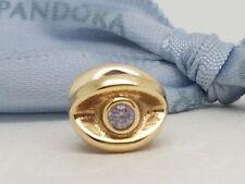 Authentic Pandora 14ct 14k Gold Amethyst Purple CZ Twinkling Eye Bead 750215ACZ