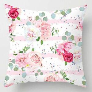 Pink Feather Pillowcase Decorative Sofa Cushion Case Bed Pillow Cover Home Decor