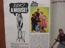 1969 TV Guide Fall Preview Mag(THE BRADY BUNCH/THEN CAME BRONSON/DEBBIE REYNOLDS
