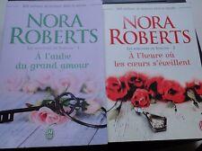 LIVRE ROMAN NORA ROBERTS LES HERITIERS DE SORCHA TOME 1 2 AUBE AMOUR COEUR HEURE