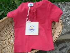 NUOVO Petit Bateau maglietta t-shirt bimba 3 mesi color magenta