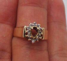 STUNNING 10K YG DIAMOND SEMI-MOUNT RING ..15 tcw SZ 7  E15236  3.00 grams