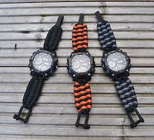 Sports Watch With Paracord Strap - Trilobite Weave