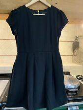 Zara Black Skater Dress Size L