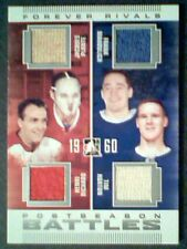PLANTE /RICHARD /MAHOVLICH /HORTON  AUTHENTIC PIECES OF GAME-USED JERSEY /9