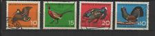 Bundespost ALLEMAGNE 1965 oiseaux 4 timbres oblitérés /T3328