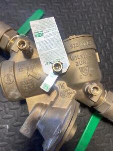 Zurn Wilkins Model 975XL2 1-1/2 in. Cast Bronze FNPT Backflow Preventer