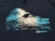 Vtg 80s Hawaii Surf t shirt L/XL single stitch blue Rivaltees