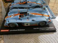 CARRERA EXC. Audi R8 Le Mans2001Johannsson Motors.LIM:EDITION Art.20492 NEU,OVP,