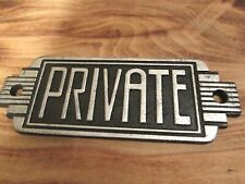 PRIVATE SIGN ART DECO VINTAGE STYLE OFFICE WORK HOME DOOR WALL PLAQUE