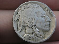 1921 P Buffalo Nickel 5 Cent Piece- Fine/VF Details