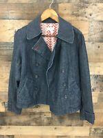 Ann Taylor Loft Women's Denim Pea Coat Style Jacket Size S