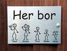 Norvegese PLACCA personalizzata porta Bastone nome della casa di famiglia il cancelletto Piccolo B