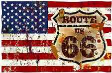 PREMIUM Autoaufkleber USA Route 66 Vintage Retro car Sticker Auto LKW Aufkleber