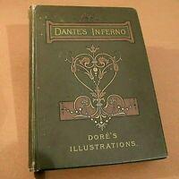 DANTE ALIGHIERI Comedìa INFERNO rara edizione inglese 1892 tavole GUSTAVE DORE'