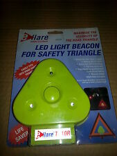 EFLARE FLASHING RED LED MOUNTING ADDITION TO SAFETY TRIANGLES BREAKDOWN TB10R