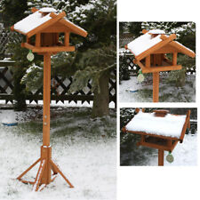 XXL Vogelhaus mit Ständer aus Holz Vogelfutterhaus Futterhaus Vogelhäuschen