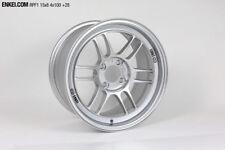 Enkei RPF1 15x8 4x100 28mm Silver Wheels - Set of 4 - 3795804928SP