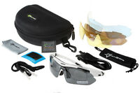 RockBros Polarized Cycling Glasses Running Fishing Sunglasses Casual White UV400