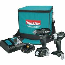 Makita Cx200Rb 18V Brushless Combo Kit Drill & impact Driver 2 Battery, Charger