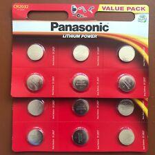 12 x Panasonic CR2032 Batteria A Bottone Al Litio 3 V 2032-scadenza più lungo-Regno Unito