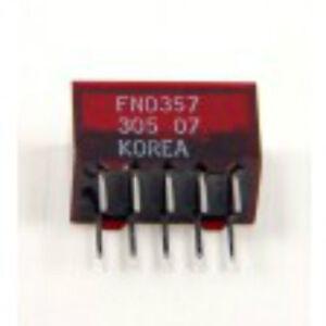 FND357 OPTO DISPLAY 7SEGMENT RED LED FND357C ''UK COMPANY SINCE1983 NIKKO''