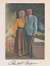 Pristine, Richard Nixon Signed & Pat Nixon Signed Color Photograph, San Clemente